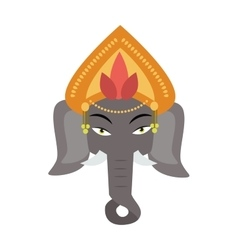 Ethnic patterned head of indian elephant on the vector image vector image