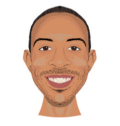 ludacris face icon in flat style vector image