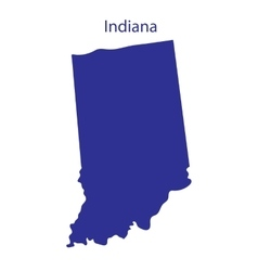 United States Indiana vector image
