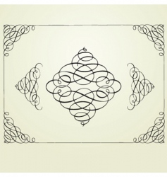 swirl frame and elements vector image