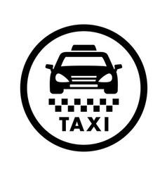 taxi cab services icon vector image