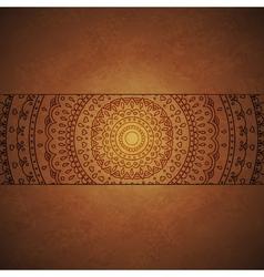 Vintage mandala ornament cover vector image