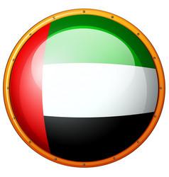 badge design for flag of arab emirates vector image