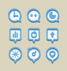 Collection of different web icons vector image vector image