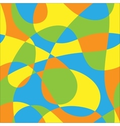 Color pattern of loops vector image vector image