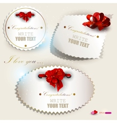 gift label set vector image vector image