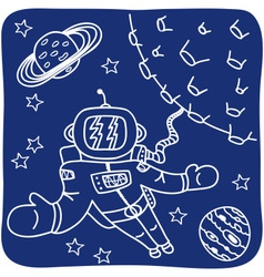 Hand drawn birthday icons vector image