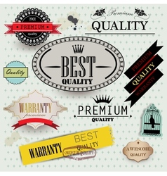 Set of Superior Quality vector image vector image