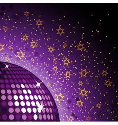 disco ball background vector image