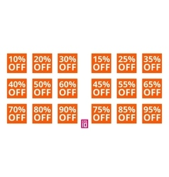 Discount square set vector image vector image