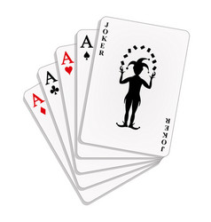 Four aces and joker vector