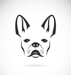 image of an dog bulldog vector image vector image