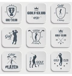 Set of vintage golf labels vector image vector image