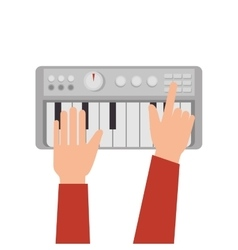 synthesizer audio device icon vector image