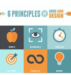 6 principles of good logo design vector image