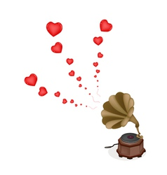 A Beautiful Vintage Gramophone Play Romantic Song vector image