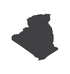Algeria map silhouette vector