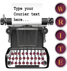 antique typewriter vector image