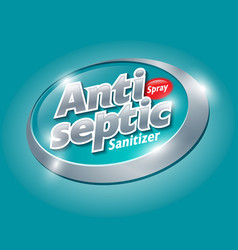 Antiseptic logo sanitizer spray label and logo vector