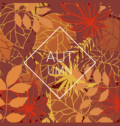 autumn leaves festival orange vector image