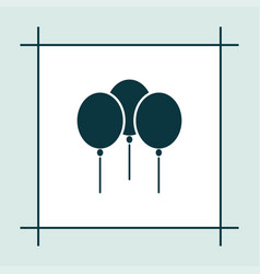 balloon icon simple vector image
