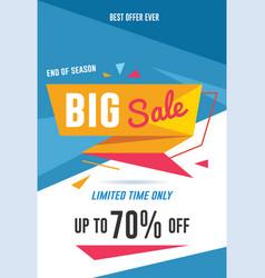 big sale flyer vector image