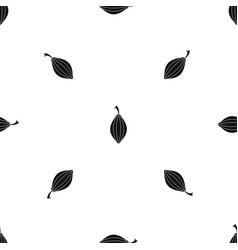 Black cardamom pod pattern seamless black vector