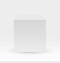 blank box isolated on white background white cube vector image