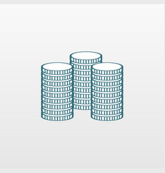 blue money icon isolated on background modern sim vector image