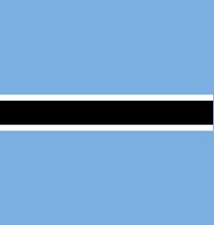 botswana flat flag vector image