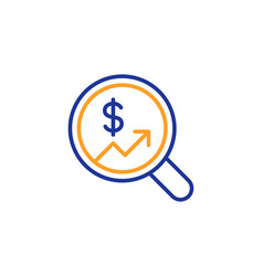 Business audit or statistics line icon vector