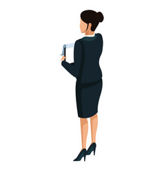 Business woman back view 3d vector