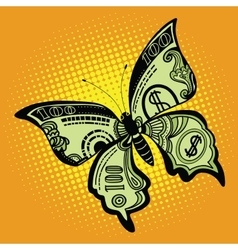Butterfly dollar bill vector