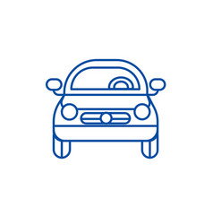 car vehicle front view line icon concept car vector image