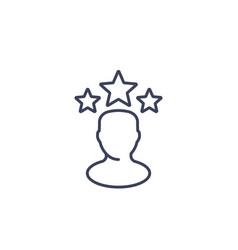 celebrity line icon vector image