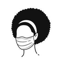character wearing medical mask vector image