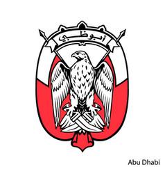 Coat arms abu dhabi is a united arab vector