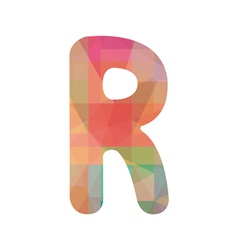 Colorful alphabet R vector image