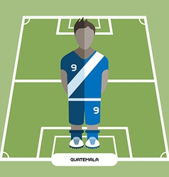 Computer game Guatemala Soccer club player vector