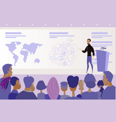 conference or presentation public speaking vector image