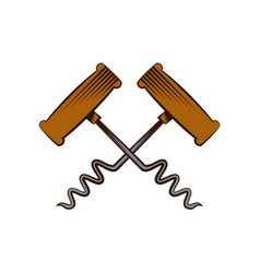 corkscrew tool icon vector image