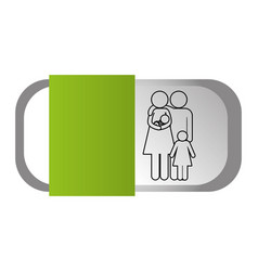 couple pictogram cartoon vector image