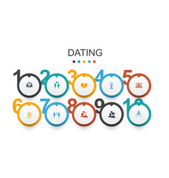 Dating infographic design template couple in love vector
