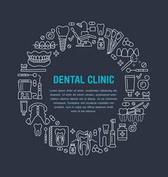 Dentist orthodontics medical banner vector