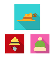 Design of headgear and cap sign collection vector