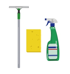 Detergentssponge and scraper vector image