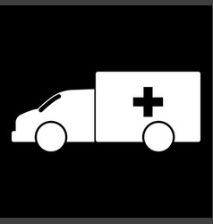 emergency car white color icon vector image