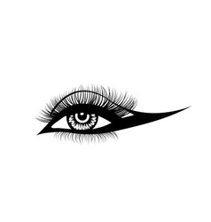 Eye lashes hand-drawn woman s sexy vector