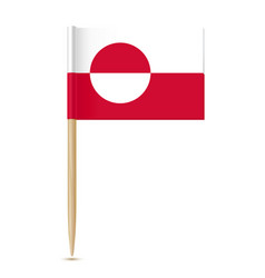 flag of greenland flag toothpick vector image