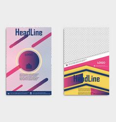 flyer template design for business brochure vector image